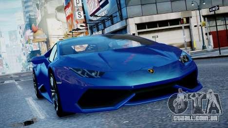 Lamborghini Huracan LP610-4 from Horizon 2 para GTA 4 esquerda vista
