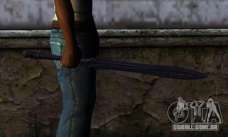 Unnamed Sword para GTA San Andreas terceira tela