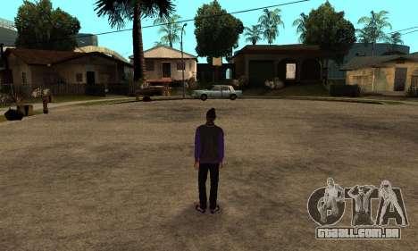 The Ballas Skin Pack para GTA San Andreas por diante tela