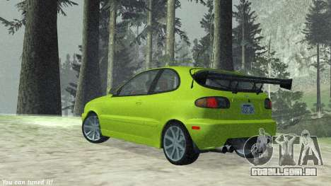 Daewoo Lanos Esporte EUA 2001 para GTA San Andreas vista interior