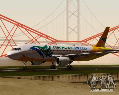 Airbus A320-200 Cebu Pacific Air para GTA San Andreas vista superior