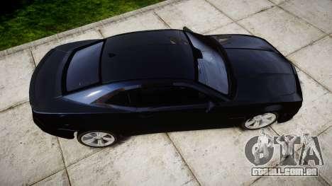 Chevrolet Camaro SS [ELS] Unmarked interceptors para GTA 4 vista direita