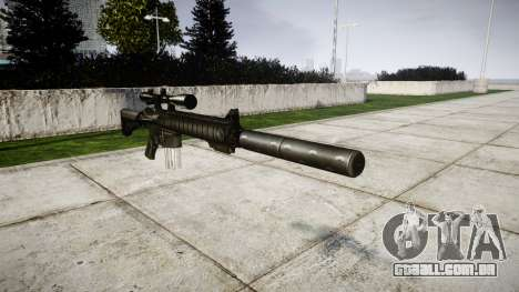 American sniper rifle SR-25 para GTA 4