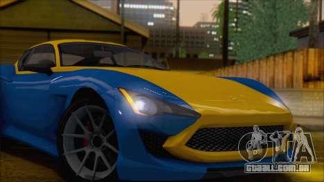 GTA 5 Lampadati Furore GT (IVF) para GTA San Andreas traseira esquerda vista