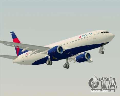 Boeing 737-800 Delta Airlines para GTA San Andreas vista direita