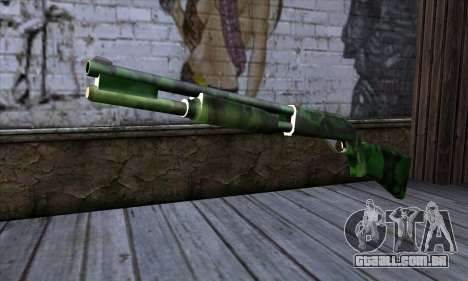 Chromegun v2 Militar colorir para GTA San Andreas