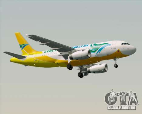 Airbus A319-100 Cebu Pacific Air para GTA San Andreas vista superior