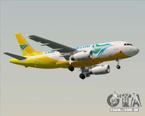 Airbus A319-100 Cebu Pacific Air para GTA San Andreas vista superior