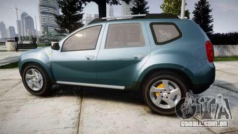 Dacia Duster 2013 para GTA 4 esquerda vista