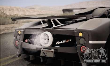 Pagani Zonda 760RS para GTA San Andreas vista direita