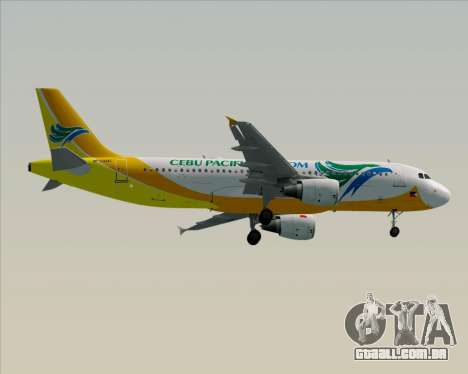 Airbus A320-200 Cebu Pacific Air para GTA San Andreas vista traseira
