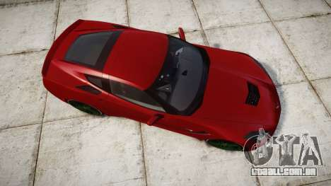 Chevrolet Corvette C7 Stingray 2014 v2.0 TireBr2 para GTA 4 vista direita