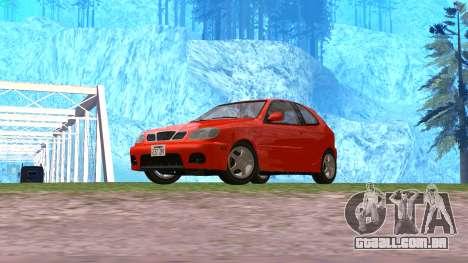 Daewoo Lanos Esporte EUA 2001 para GTA San Andreas vista direita