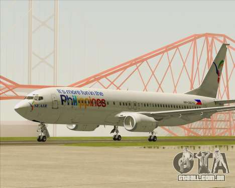 Boeing 737-800 South East Asian Airlines (SEAIR) para GTA San Andreas esquerda vista