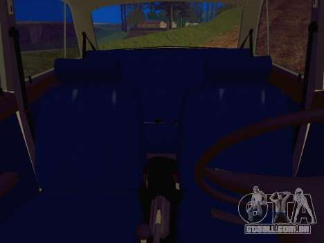 VAZ-2106 Polícia para GTA San Andreas vista traseira