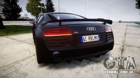 Audi R8 LMX 2015 [EPM] v1.3 para GTA 4 traseira esquerda vista