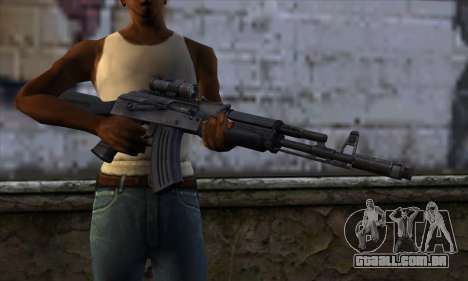 AK-103 Ravaged para GTA San Andreas terceira tela