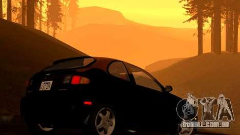 Daewoo Lanos Esporte EUA 2001 para GTA San Andreas vista inferior