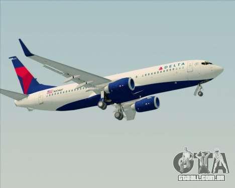 Boeing 737-800 Delta Airlines para o motor de GTA San Andreas