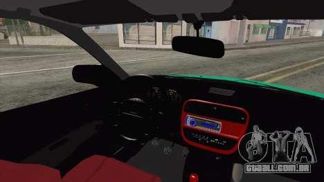 Honda Civic HB para GTA San Andreas traseira esquerda vista