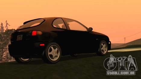 Daewoo Lanos Esporte EUA 2001 para GTA San Andreas traseira esquerda vista