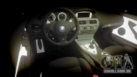 BMW M6 Vossen VVS CV3 para GTA 4 vista interior