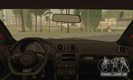 Audi S3 para GTA San Andreas traseira esquerda vista