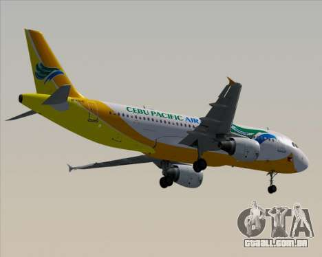 Airbus A320-200 Cebu Pacific Air para GTA San Andreas vista inferior