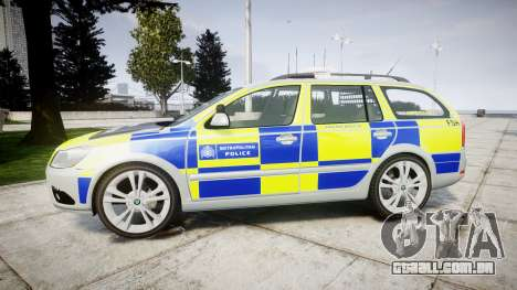 Skoda Octavia vRS Comb Metropolitan Police [ELS] para GTA 4 esquerda vista
