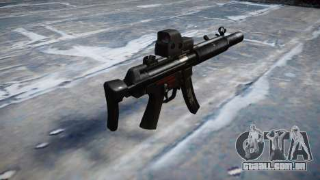 Arma MP5SD EOTHS CS b-alvo para GTA 4 segundo screenshot