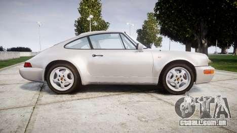 Porsche 911 (964) Coupe para GTA 4 esquerda vista