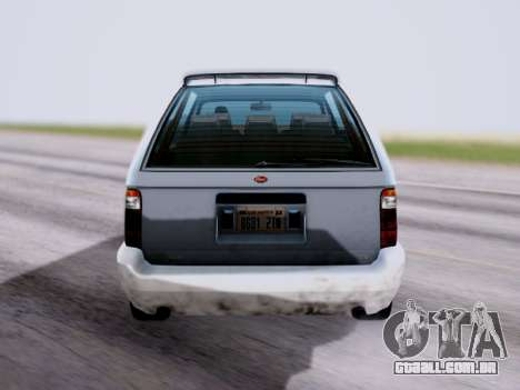 GTA V Minivan para GTA San Andreas traseira esquerda vista