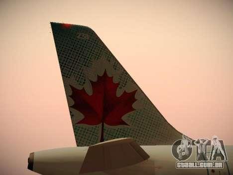 Airbus A320-214 Air Canada para GTA San Andreas interior