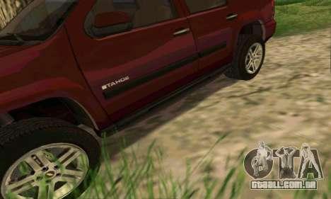 Chevrolet Tahoe Final para GTA San Andreas interior