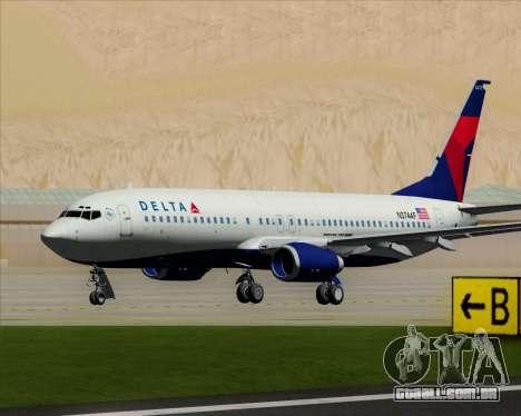 Boeing 737-800 Delta Airlines para GTA San Andreas esquerda vista