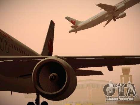 Airbus A320-214 Air Canada para GTA San Andreas vista inferior