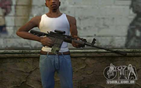 M4A1 from COD Modern Warfare 3 para GTA San Andreas terceira tela