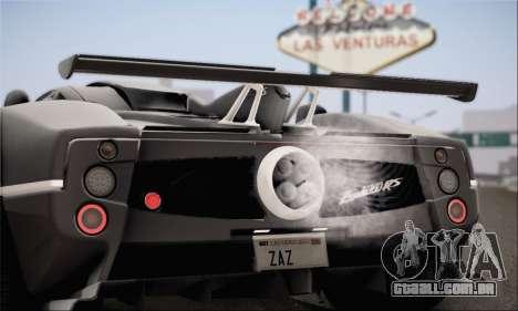 Pagani Zonda 760RS para GTA San Andreas esquerda vista