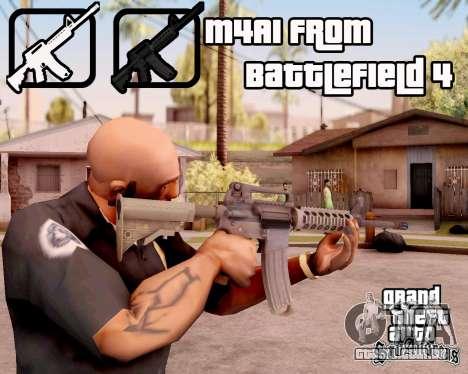 M4A1 BF4 para GTA San Andreas terceira tela