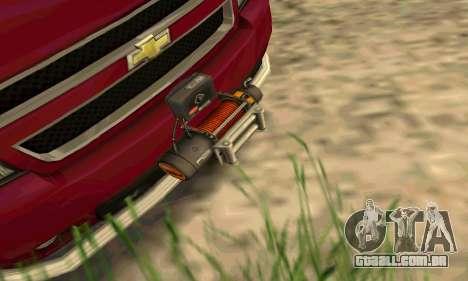 Chevrolet Tahoe Final para GTA San Andreas vista traseira