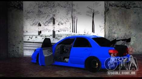 Subaru Impreza WRX STI para GTA San Andreas vista direita