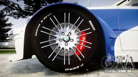 BMW M3 E46 GTR Most Wanted plate NFS-Hero para GTA 4 vista de volta