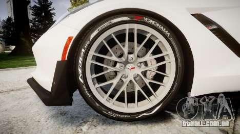Chevrolet Corvette Z06 2015 TireYA1 para GTA 4 vista de volta