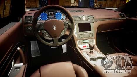 Maserati GranTurismo S 2010 PJ 4 para GTA 4 vista de volta