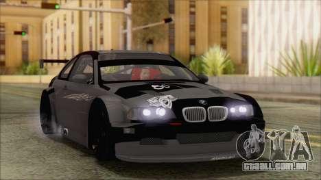 BMW M3 E46 GTR para vista lateral GTA San Andreas