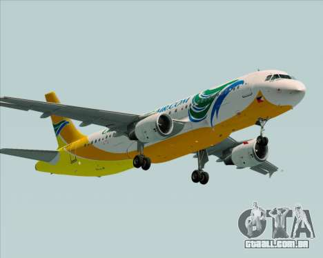 Airbus A320-200 Cebu Pacific Air para GTA San Andreas vista direita