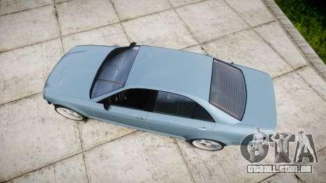 Benefactor Schafter Gen. 1 Grey Series para GTA 4 vista direita