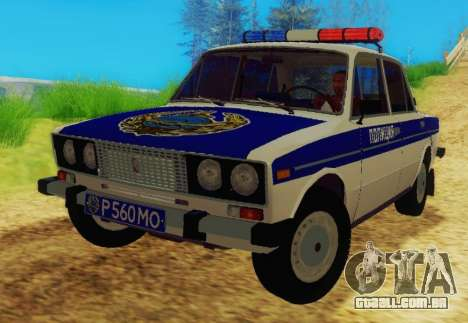 VAZ-2106 Polícia para GTA San Andreas
