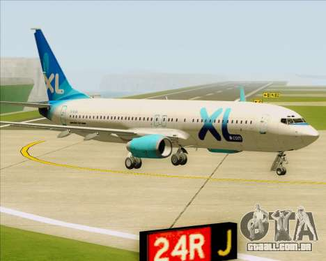 Boeing 737-800 XL Airways para GTA San Andreas esquerda vista