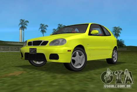 Daewoo Lanos Esporte EUA 2001 para GTA Vice City vista traseira